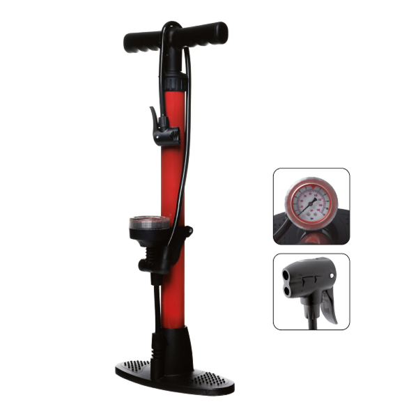 Pompa BASIC in acciaio con manometro