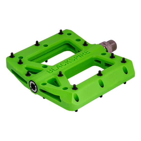 Coppia pedali Nylotrax lime green per enduro/freeride