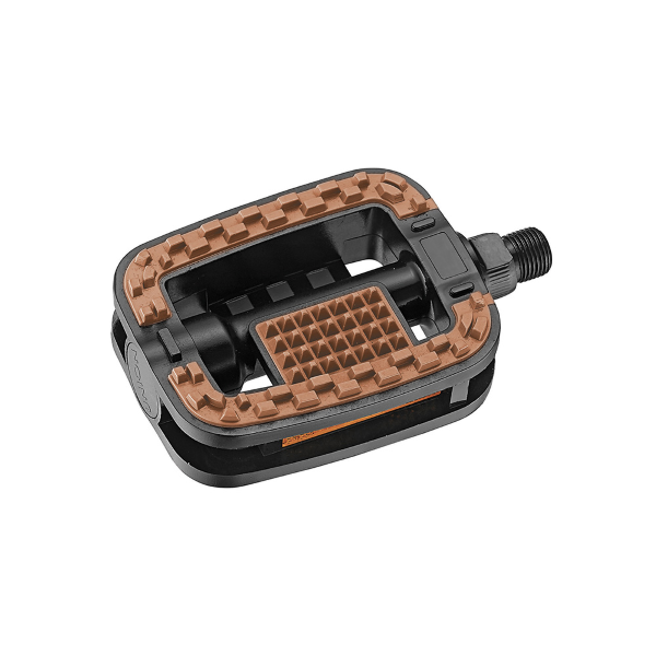 Pedali Trekking antiscivolo con catarifrangente BS standard marroni