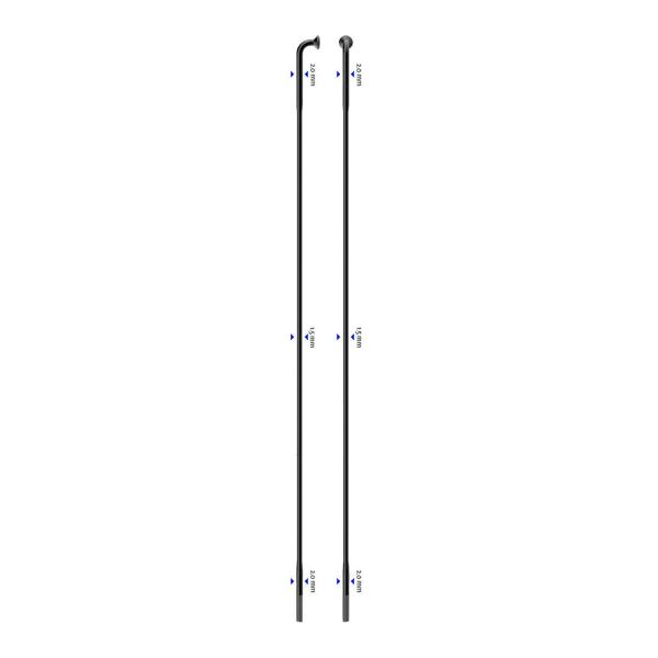 Raggio Laser J-Bend 266mm nero confezione raggi
