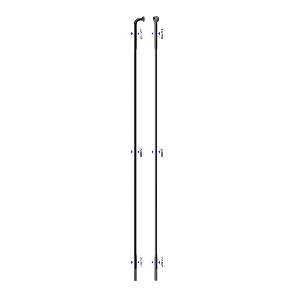 Raggio Laser J-Bend 270mm nero confezione raggi