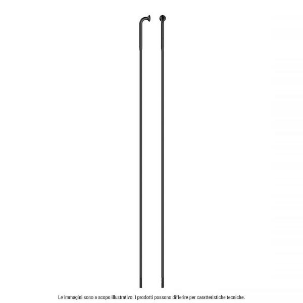 Raggio Sapim Strong Inox J-Bend ideale Ebike 266mm Nero con nipple ott