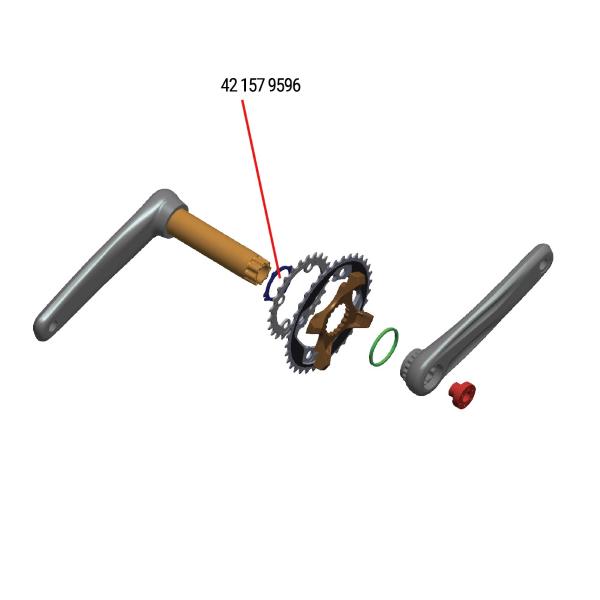 Ghiera di chiusura spider lockring ML549 per guarniture modular