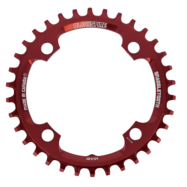 Corona Snaggletooth 104/32t 104BCD colore rosso
