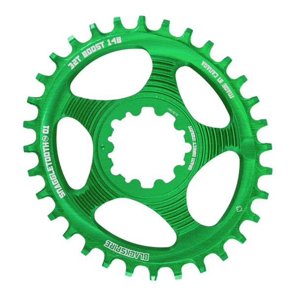Corona Snaggletooth Ovale 34 direct mount Sram boost colore verde