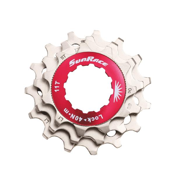 Kit per 12 velocit� ghiera 3 pignoni 11-13-15 colore silver