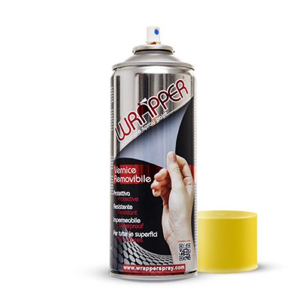 Bomboletta vernice rimovibile Wrapper Giallo Traffico ml 400